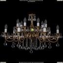 1703/14/B/FP/Balls Хрустальная подвесная люстра Bohemia Ivele Crystal (Богемия)