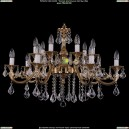 1703/14/320/B/G/Leafs Хрустальная подвесная люстра Bohemia Ivele Crystal