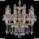 1704/10/UP125IV/A/GW Хрустальная подвесная люстра Bohemia Ivele Crystal (Богемия)