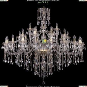 1415/20+10+5/530/G Хрустальная подвесная люстра Bohemia Ivele Crystal (Богемия)