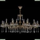 1703/18/320+210/A/GB Хрустальная подвесная люстра Bohemia Ivele Crystal