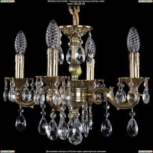 1707/4/125/A/GB Хрустальная подвесная люстра Bohemia Ivele Crystal (Богемия)