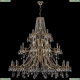 1771/20+10+5/490/A/GB Хрустальная подвесная люстра Bohemia Ivele Crystal (Богемия)