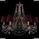 1771/6/220/C/FP/SH9 Хрустальная подвесная люстра Bohemia Ivele Crystal (Богемия)