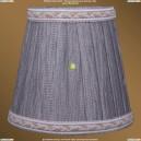 SH6A Абажур Серебряный индийский шелк с бело-золотой каймой Bohemia Ivele Crystal (Богемия)