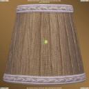 SH7A Абажур Золотой индийский шелк с бело-золотой каймой Bohemia Ivele Crystal (Богемия)
