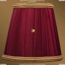 SH8B Абажур Светлый бордо с золотой каймой Bohemia Ivele Crystal (Богемия)