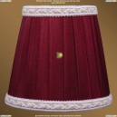SH8A Абажур Светлый бордо с бело-золотой каймой Bohemia Ivele Crystal (Богемия)