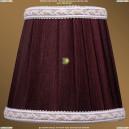 SH9A Абажур Тёмный бордо с бело-золотой каймой Bohemia Ivele Crystal (Богемия)