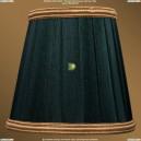 SH10B Абажур Зеленый с золотой каймой Bohemia Ivele Crystal (Богемия)