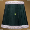 SH10A Абажур Зеленый с бело-золотой каймой Bohemia Ivele Crystal (Богемия)