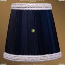 SH11A Абажур Синий с бело-золотой каймой Bohemia Ivele Crystal (Богемия)
