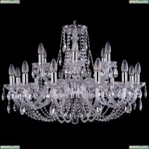 1406/12+6/300/Ni Хрустальная подвесная люстра Bohemia Ivele Crystal (Богемия)