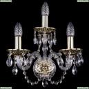 1600/3/GB Хрустальное бра Bohemia Ivele Crystal (Богемия)