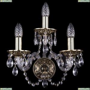 1610/3/GB Хрустальное бра Bohemia Ivele Crystal (Богемия)