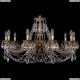 1702/10/300/C/FP Хрустальная подвесная люстра Bohemia Ivele Crystal (Богемия)