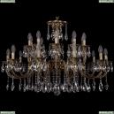 1702/10+10/300+150/A/FP Большая хрустальная подвесная люстра Bohemia Ivele Crystal