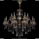 1702/10+10/335+150/B/FP Большая хрустальная подвесная люстра Bohemia Ivele Crystal (Богемия)