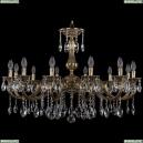 1702/12/300/A/GB Хрустальная подвесная люстра Bohemia Ivele Crystal
