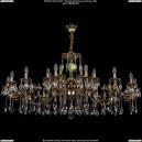1702/16+8/335+265+150/A/GB Большая хрустальная подвесная люстра Bohemia Ivele Crystal (Богемия)