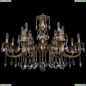 1702/8+8/300+150/A/GB Большая хрустальная подвесная люстра Bohemia Ivele Crystal (Богемия)