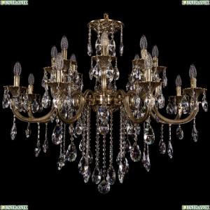 1702/8+8/300+150/B/GB Большая хрустальная подвесная люстра Bohemia Ivele Crystal (Богемия)