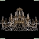 1703/16/360/C/GB Большая хрустальная подвесная люстра Bohemia Ivele Crystal (Богемия)
