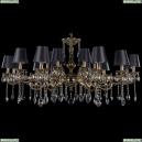 1703/18/320+210/A/GB/SH25 Большая хрустальная подвесная люстра Bohemia Ivele Crystal