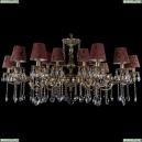 1703/18/320+210/A/GB/SH27 Большая хрустальная подвесная люстра Bohemia Ivele Crystal