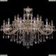 1703/24/360/B/GW Большая хрустальная подвесная люстра Bohemia Ivele Crystal (Богемия)