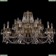 1703/24/360/C/GW Большая хрустальная подвесная люстра Bohemia Ivele Crystal (Богемия)