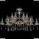 1709/18/410/A/GW Большая хрустальная подвесная люстра Bohemia Ivele Crystal (Богемия)