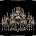 1722/10+5+5/300/A/GB Большая хрустальная подвесная люстра Bohemia Ivele Crystal