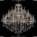 1722/12+6+6/300/B/GW Большая хрустальная подвесная люстра Bohemia Ivele Crystal
