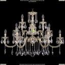 1722/6+3+3/335/A/GW Большая хрустальная подвесная люстра Bohemia Ivele Crystal