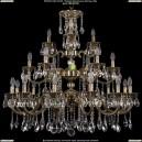 1732/12+6+3/300/A/GB Большая хрустальная подвесная люстра Bohemia Ivele Crystal (Богемия)