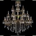 1732/12+6+3/300/B/GB Большая хрустальная подвесная люстра Bohemia Ivele Crystal (Богемия)