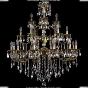 1732/12+6+3/335/B/GB Люстра Большая Bohemia Ivele Crystal (Богемия)
