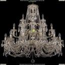 1732/12+6+3/335/C/GW Большая хрустальная подвесная люстра Bohemia Ivele Crystal (Богемия)