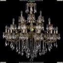 1732/12+6+3/335/SB/GB Большая хрустальная подвесная люстра Bohemia Ivele Crystal (Богемия)
