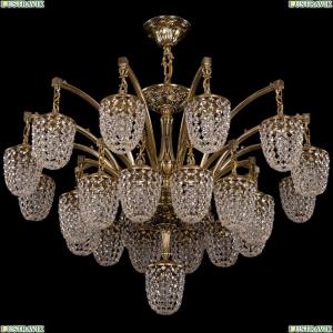 1772/24+1/342/GB Большая хрустальная подвесная люстра Bohemia Ivele Crystal (Богемия)