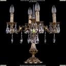 1702L/4/125-51/A/GB Настольная лампа с элементами художественного литья и хрусталем Bohemia Ivele Crystal (Богемия)
