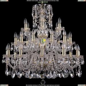 1412/12+12+6/300/G Хрустальная большая люстра Bohemia Ivele Crystal (Богемия)