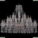 1413/24+12+6/460/G Хрустальная большая люстра Bohemia Ivele Crystal (Богемия)