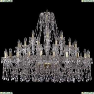 1413/24+12+6/460-100/G Хрустальная большая люстра Bohemia Ivele Crystal (Богемия)