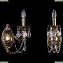 1702B/1/175/C/GB Хрустальное бра Bohemia Ivele Crystal