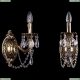 1702B/1/175/C/GB Хрустальное бра Bohemia Ivele Crystal (Богемия)