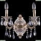 1702B/2/175/B/GW Хрустальное бра Bohemia Ivele Crystal (Богемия)
