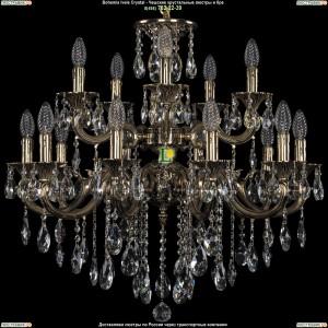 1702/10+5/265+181/B/GB Хрустальная люстра Bohemia Ivele Crystal (Богемия)