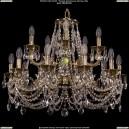 1702/10+5/265+181/C/GB Хрустальная подвесная люстра Bohemia Ivele Crystal (Богемия)
